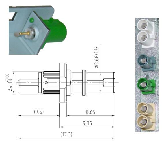 Geräte-Stecker, Einpreß-Stecker