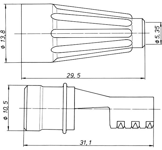 ISO-10599 Kupplung, gerade