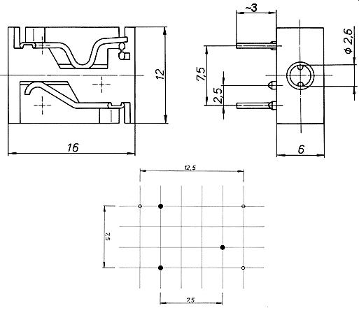 Klinkenbuchse 2.5mm