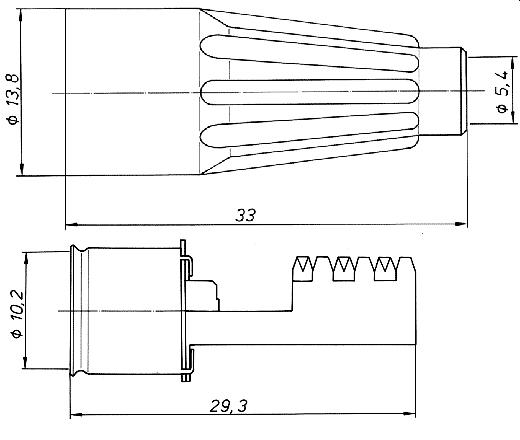 ISO 10599 Stecker, gerade