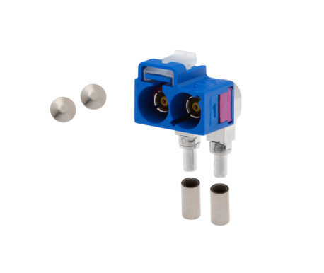 Female plug 90° low loss 3.3 (twin)