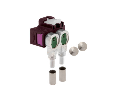 Winkelkuppler 2fach Low-Loss 3.3-520 404 D