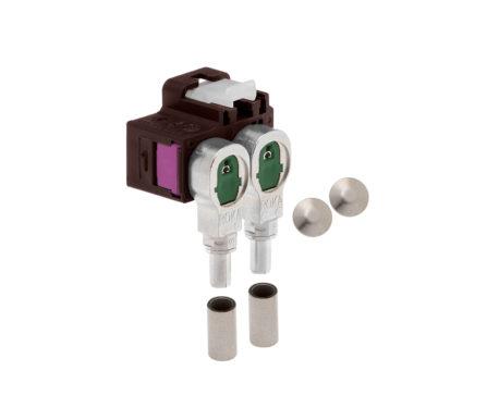 Winkelkuppler 2fach Low-Loss 3.3-520 404 F