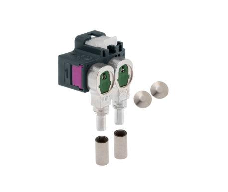 Winkelkuppler 2fach Low-Loss 3.3-520 404 G
