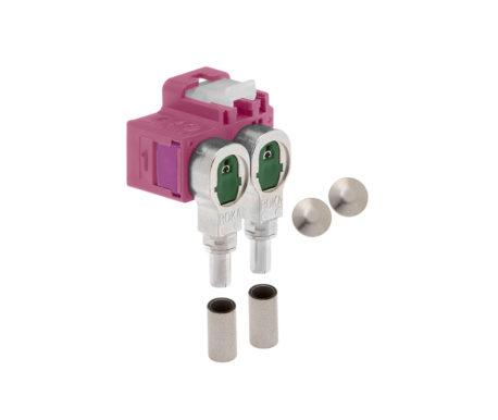 Winkelkuppler 2fach Low-Loss 3.3-520 404 H