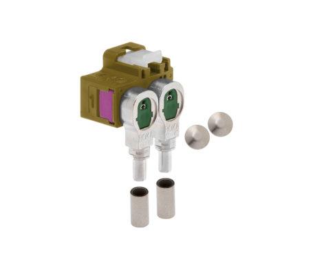 Winkelkuppler 2fach Low-Loss 3.3-520 404 K