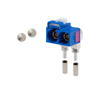 FAKRA Female 90° plug RG 174 (twin)