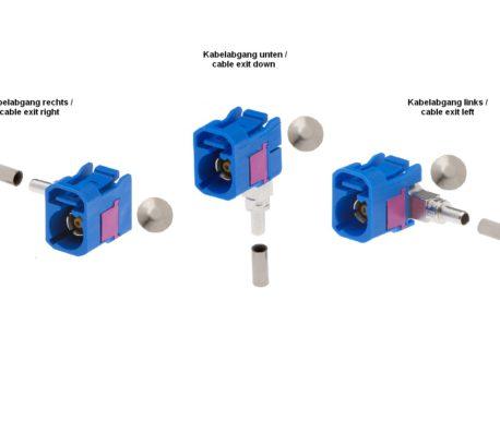 Winkelkuppler fix RG 174-520 87x C