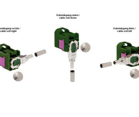 Winkelkuppler fix RG 174-520 87x E