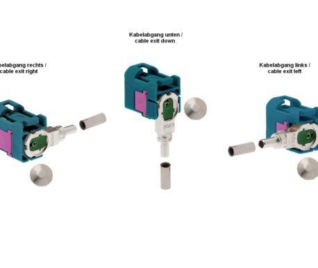 Winkelkuppler fix RG 174-520 87x Z